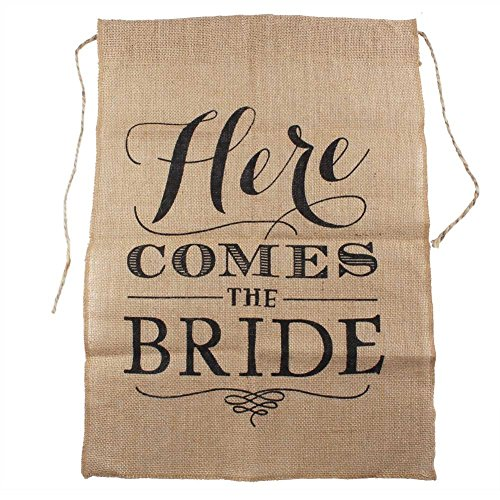 Partys Here Sign Banner (OurWarm® Here Comes the Bride Burlap Banner Wedding Party Decoration)