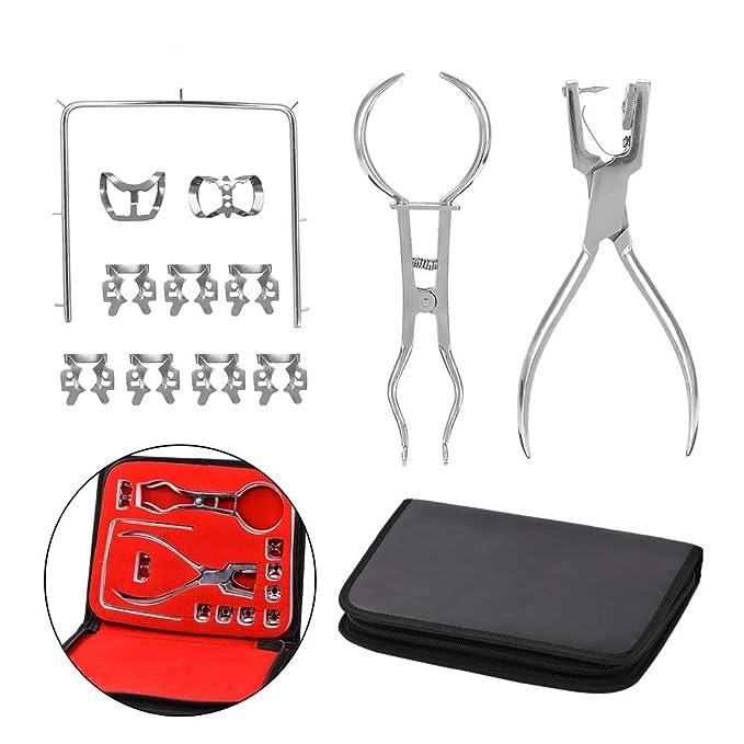 CWWHY Dental Dique Goma Kit, Perforador Dique Goma Perforadora ...