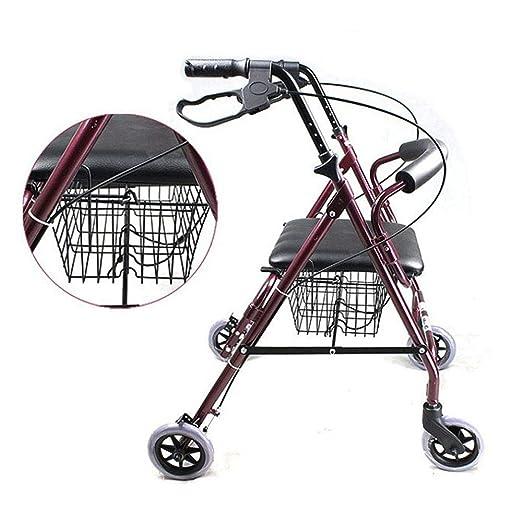 ZYJFP - Andador para Ancianos, 4 Ruedas, Marco de Aluminio ...