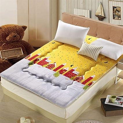 Love House Plegable Suelo de Tatami Estera para Dormir,Gruesas Suave Esponja Colchón Topper Japonés