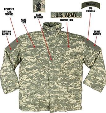 Amazon.com  ACU Digital Camouflage Army M-65 Field Jacket 8540 Size ... 391afcbaf