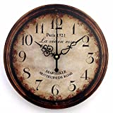 Vintage large decorative wall clock home decor fashion silent 3d wall clock modern design antique wall decor