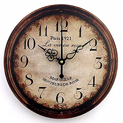 Amazon.com: Vintage large decorative wall clock home decor fashion ...