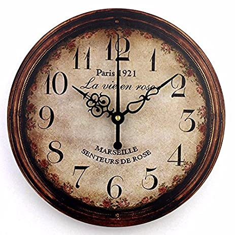 Vintage Large Decorative Wall Clock Home Decor Fashion Silent 3d Wall Clock  Modern Design Antique Wall