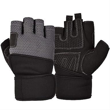 CUAU Gimnasio con guantes de medio dedo para ayudar a las mujeres ...