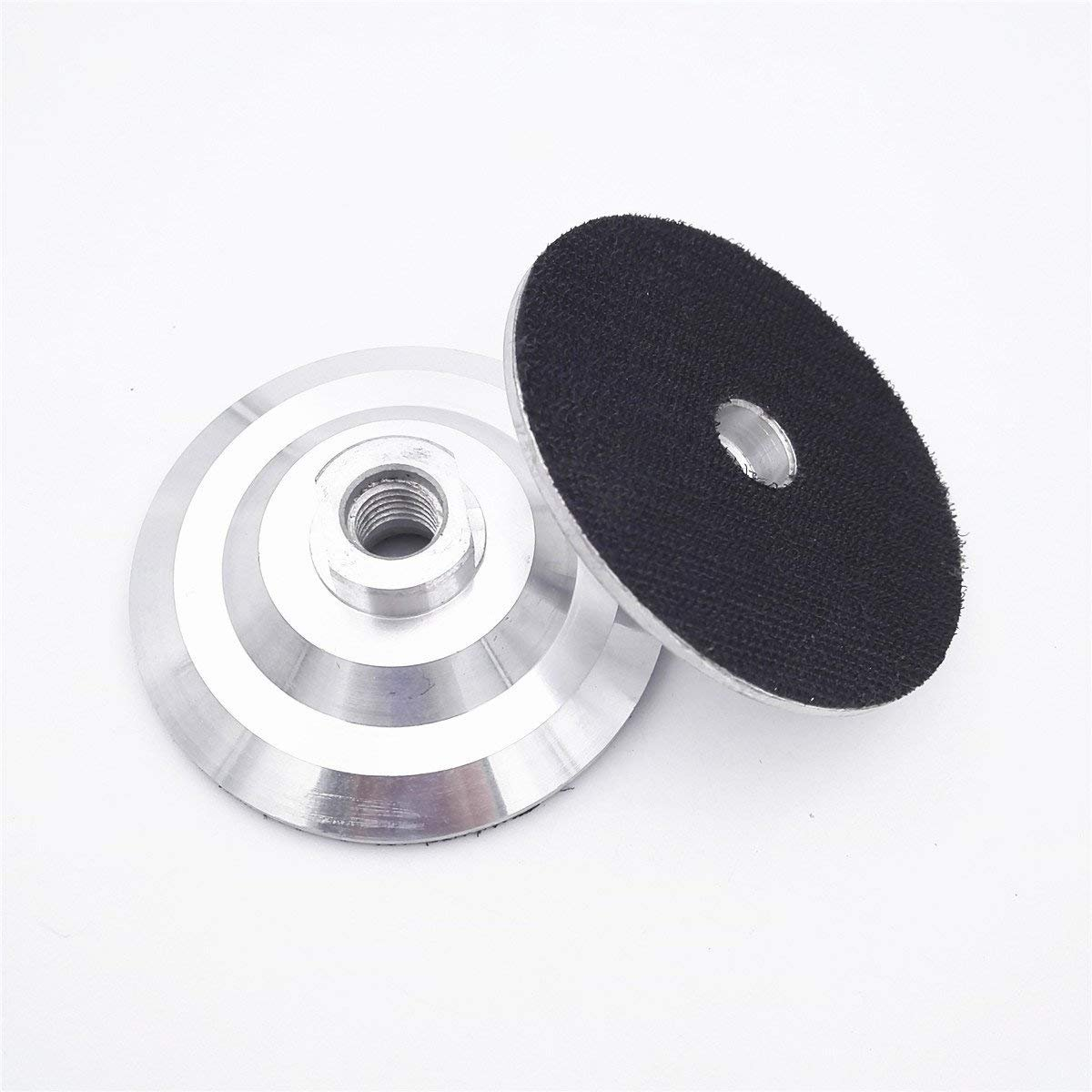 5 Pieces 5 INCH Aluminum based backer 5'' Back pad for diamond polishing pads 5/8-11 Thread Velcro backing pad for grinder wet polisher terrazzo sander floor polishing machine triad planetary polisher