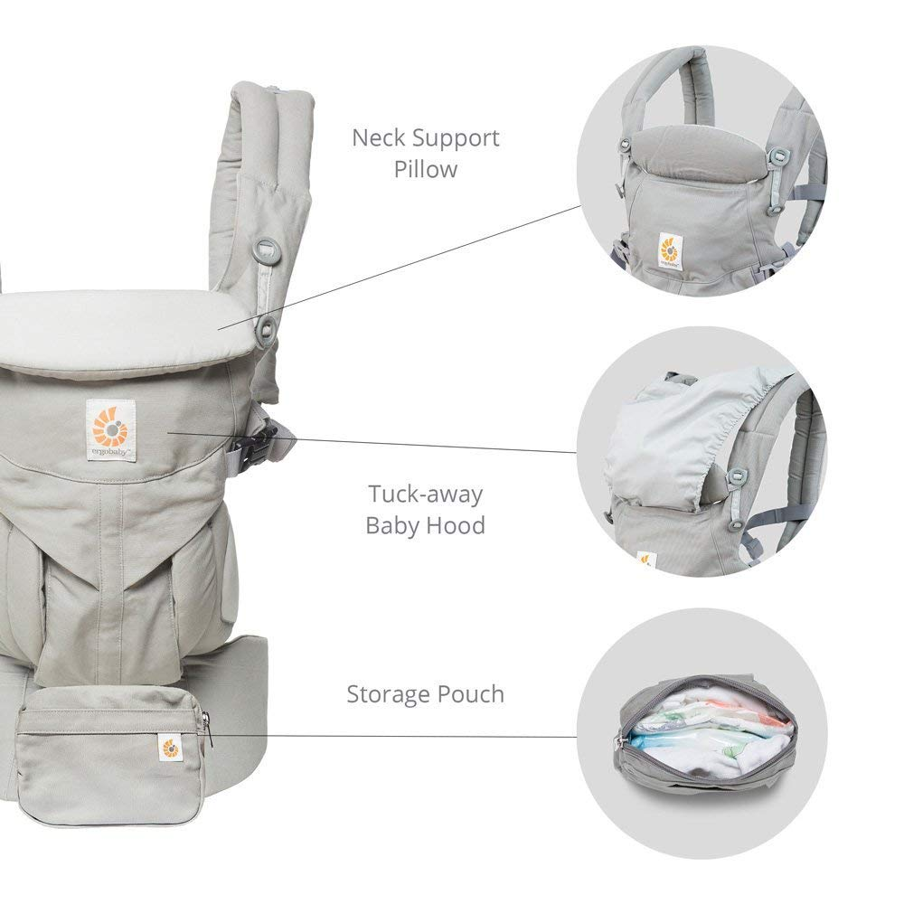 Ergobaby Carrier, Omni 360 All Carry Positions Baby Carrier, Pearl Grey by Ergobaby (Image #6)