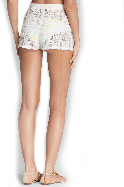 Zinke Womens Cover-up Layla High-Waist Lace Shorts
