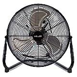 NewAir Floor Fan, 18' High Velocity Industrial Portable Shop Fan with 3 Speed Settings, WindPro18F