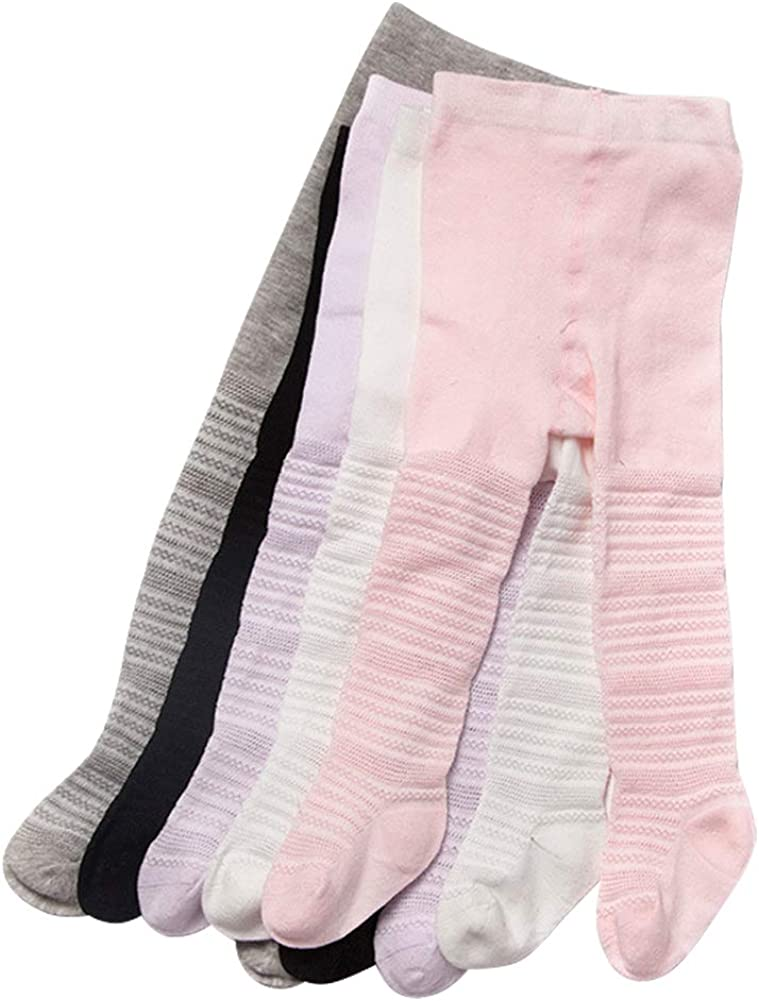 Looching Mesh Cotton Cable Knit Tights Pantyhose 5 Pack Leggings Stocking Pants for Baby Toddler Girls