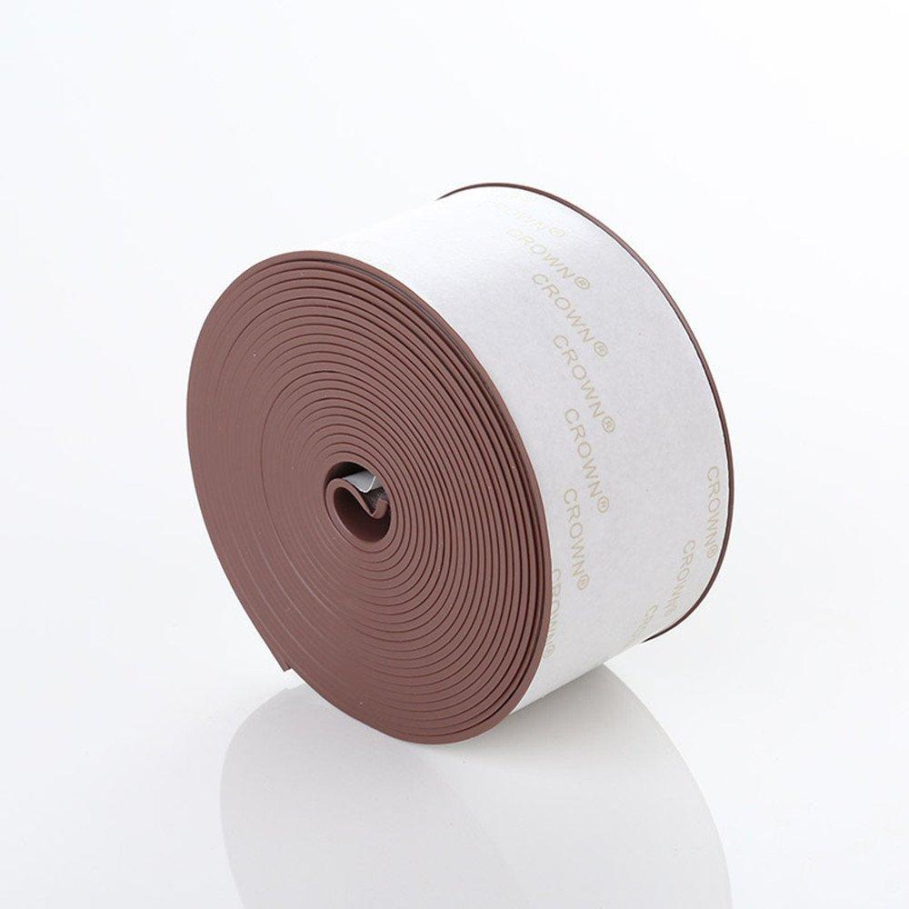 Bathtub Counter Caulk Strip Sealer Self Adhesive for Bathroom Kitchen Shower Toilet Wall Door Window Sealant, Flexible Peel Stick Caulking Tape Waterproof Decorative Trim, 2 Pack (Brown) by wisvooo