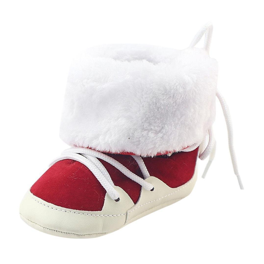 Gotd Toddler Newborn Baby Girl Boys Brushed Snow Boots Prewalker Warm Shoes