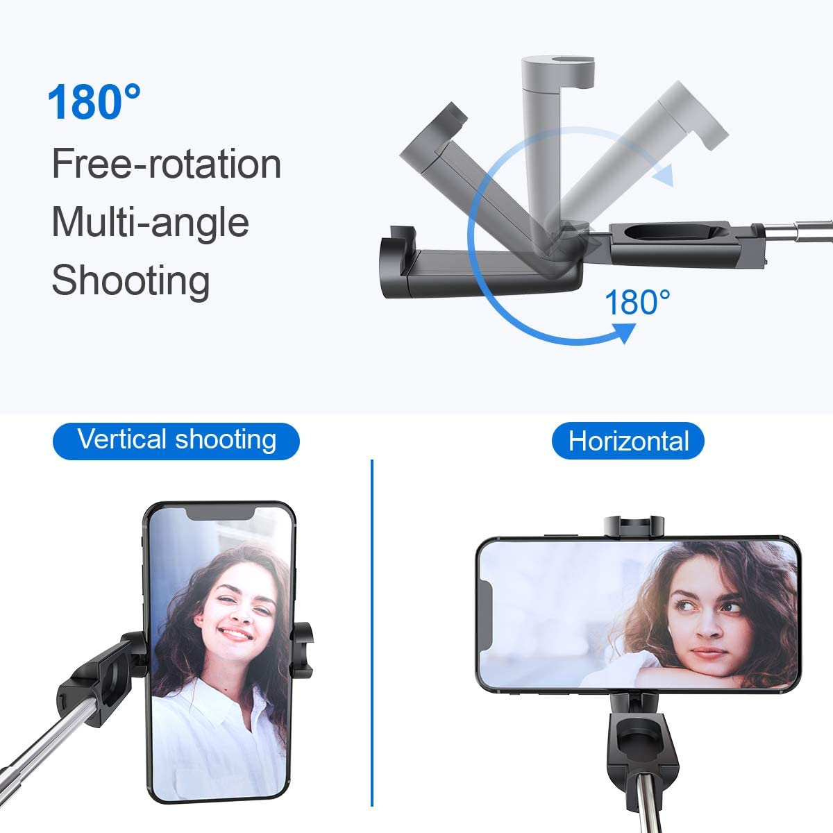 Mini Extendable Selfie Stick 3 in 1 Aluminum Selfie Stick with Wireless Remote for iPhone 11 Pro Max//11 Pro//11//XS//Xr//X//8//7//6//Plus//5//SE Lidasen Bluetooth Selfie Stick Huawei and More Samsung