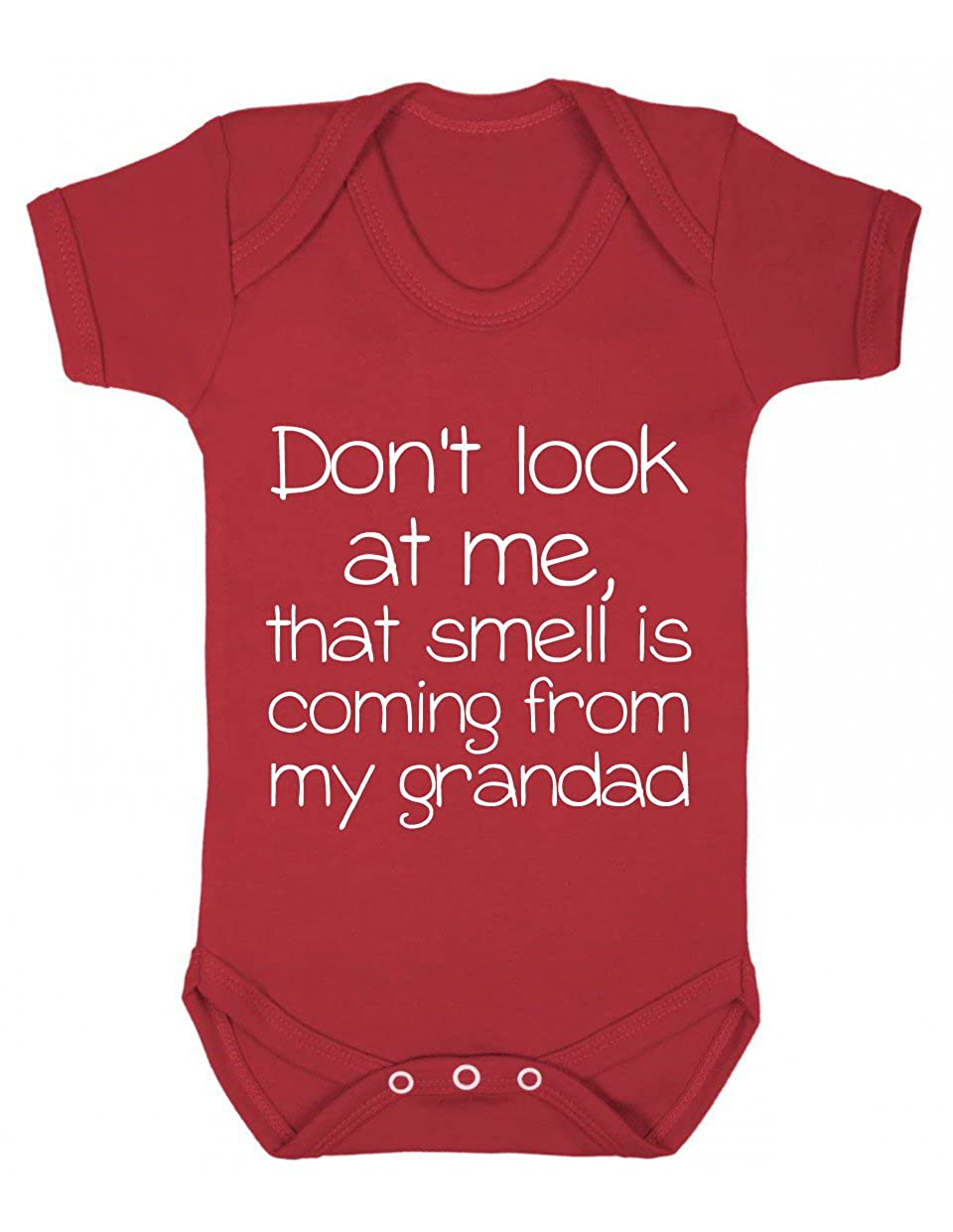 Don't look at me, that smell is coming from my grandad Funny Baby Playsuit Don't look at me BABYBS007