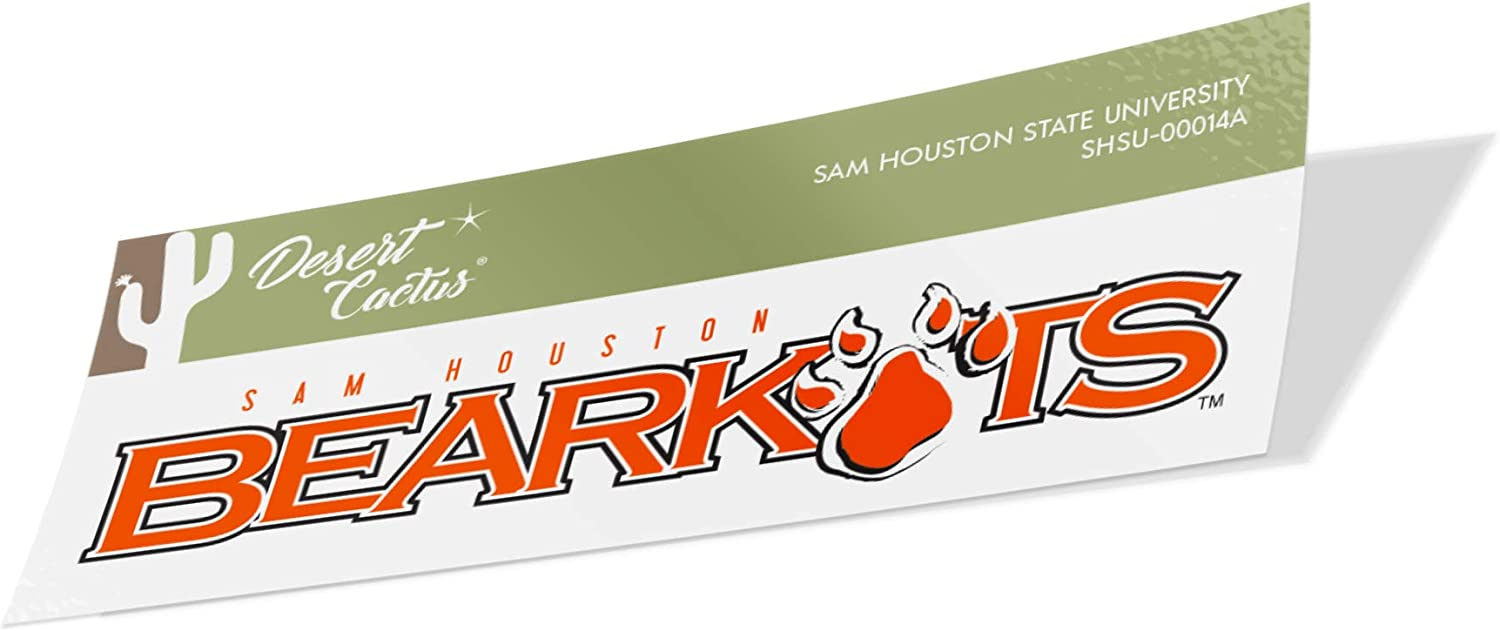 Sam Houston State University SHSU Bearkats NCAA Vinyl Decal Laptop Water Bottle Car Scrapbook (Sticker - 00014A)