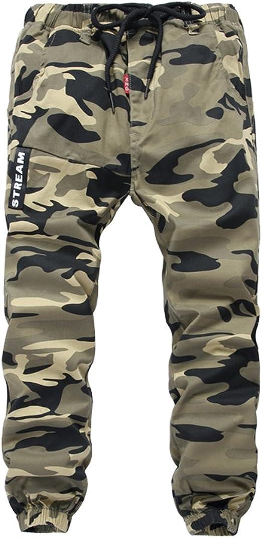 YoungSoul Pantalones para niño - Joggers cargo con bajos ajustados ...