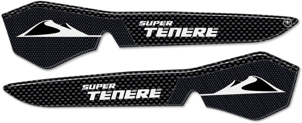 2 ADESIVI in RESINA GEL 3D per PARAMANI compatibili per MOTO Yamaha SUPER TENERE