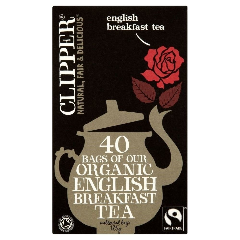 Clipper Fairtrade Organic Speciality English Breakfast Tea Bags40 per pack