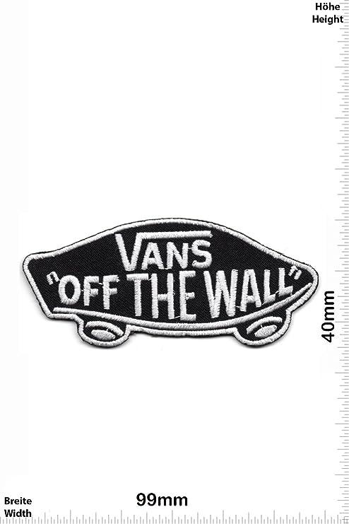 Patch Vans Off the Wall silberschwarz Cool Brands Patch Streetwear Vintage Patches Aufnäher Embleme Bügelbild Aufbügler