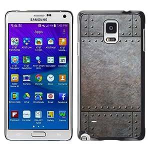 Print Motif Coque de protection Case Cover // V00002779 remaches metálicos // Samsung Galaxy Note 4 IV