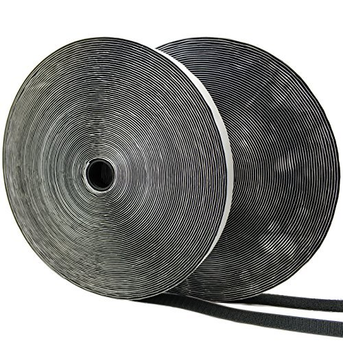 Sided Epoxy Double (Eroilor Double-sided Adhesive Hook and Loop Tape, 24 Meters Extra Strong Adhesion Self-adhesive Loop & Hook Tape Over 10,000 Time Adhesive DIY Band - Black)