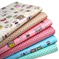Aisa 50x50cm Fabric Bundles Flower Printed Cotton Fabric Comfortable Patchwork Fabric Home Textile Material Cloth for Sewing