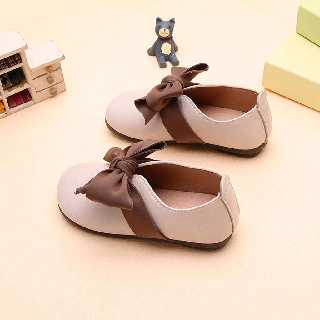 Voberry Baby Girl Shoes Ballet Flats Uniform Shoes for Toddler Girl Princess Light Bowknot Dress Shoes