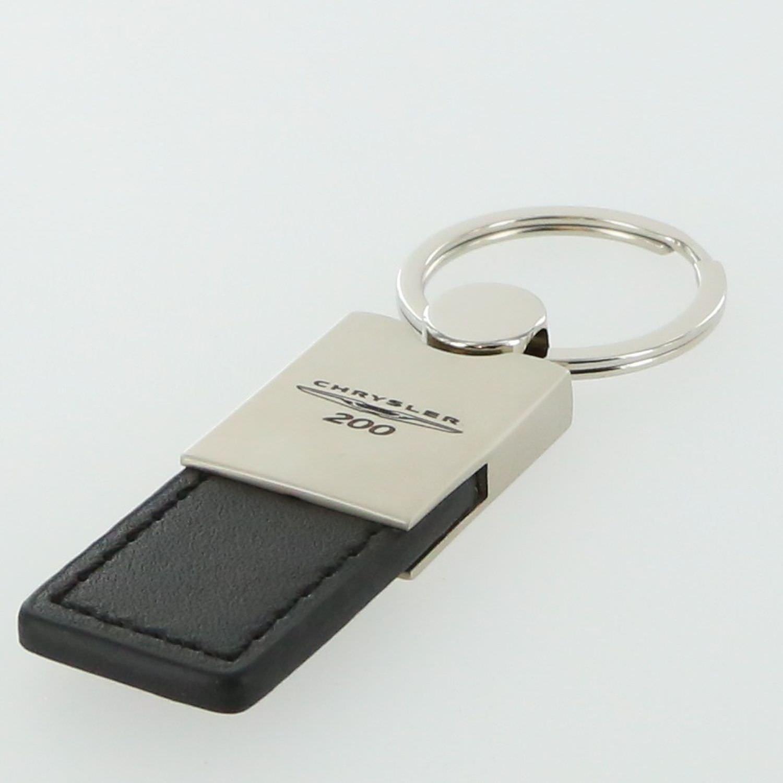 Chrysler 200 Black Leather Key Ring Au-Tomotive Gold INC