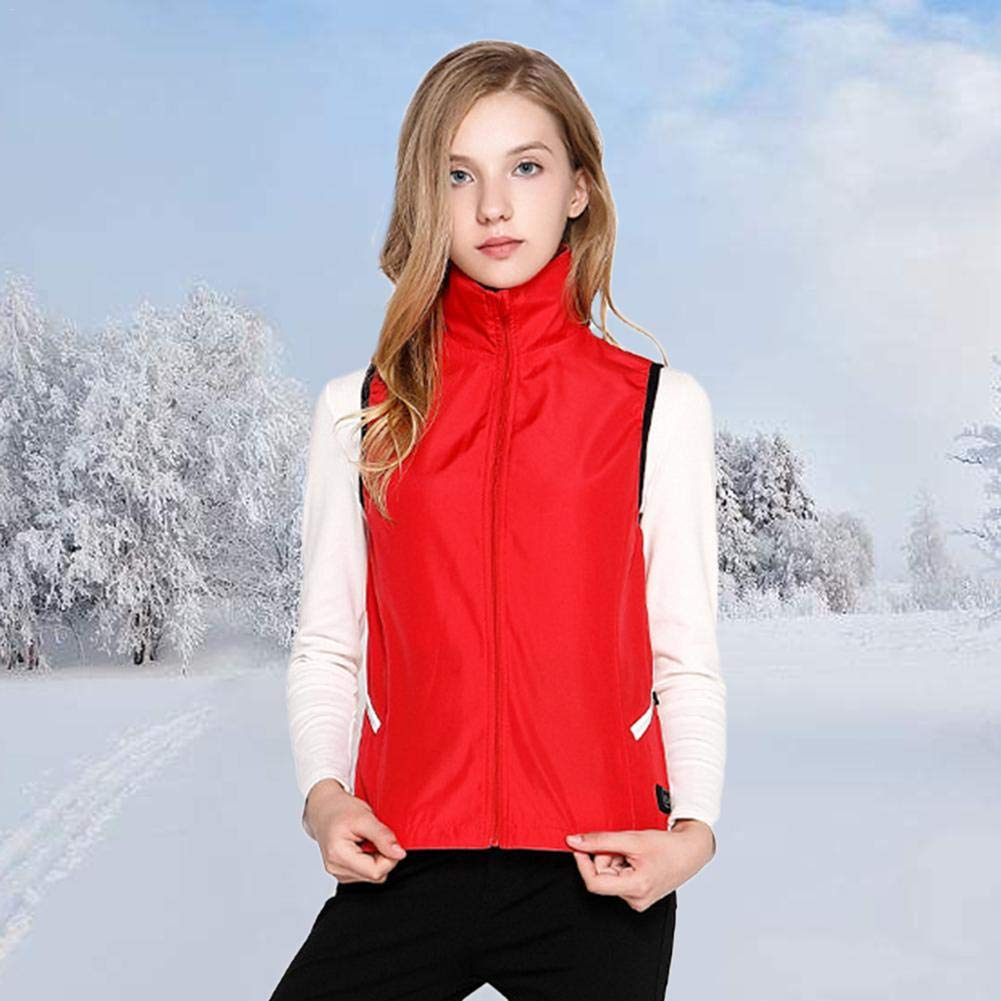 Cycling Skiing blue--net Electric Heated Vest USB Temperature Adjustable Heated Body Warmer Dow Vest Warming Womans Jacket Heat Insulate Waistcoat for Outdoor