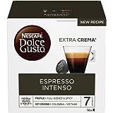 NESCAFÉ DOLCE GUSTO Espresso Intenso Caffè Espresso, 6 Confezioni da 16 Capsule (96 Capsule)