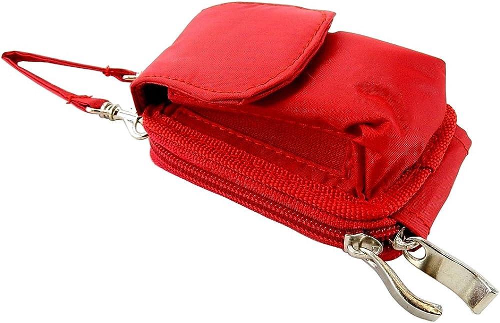 Nylon Flip Phone Case, Shoulder/Crossbody Strap, Belt Clip, Zipper Wallet #K9570.