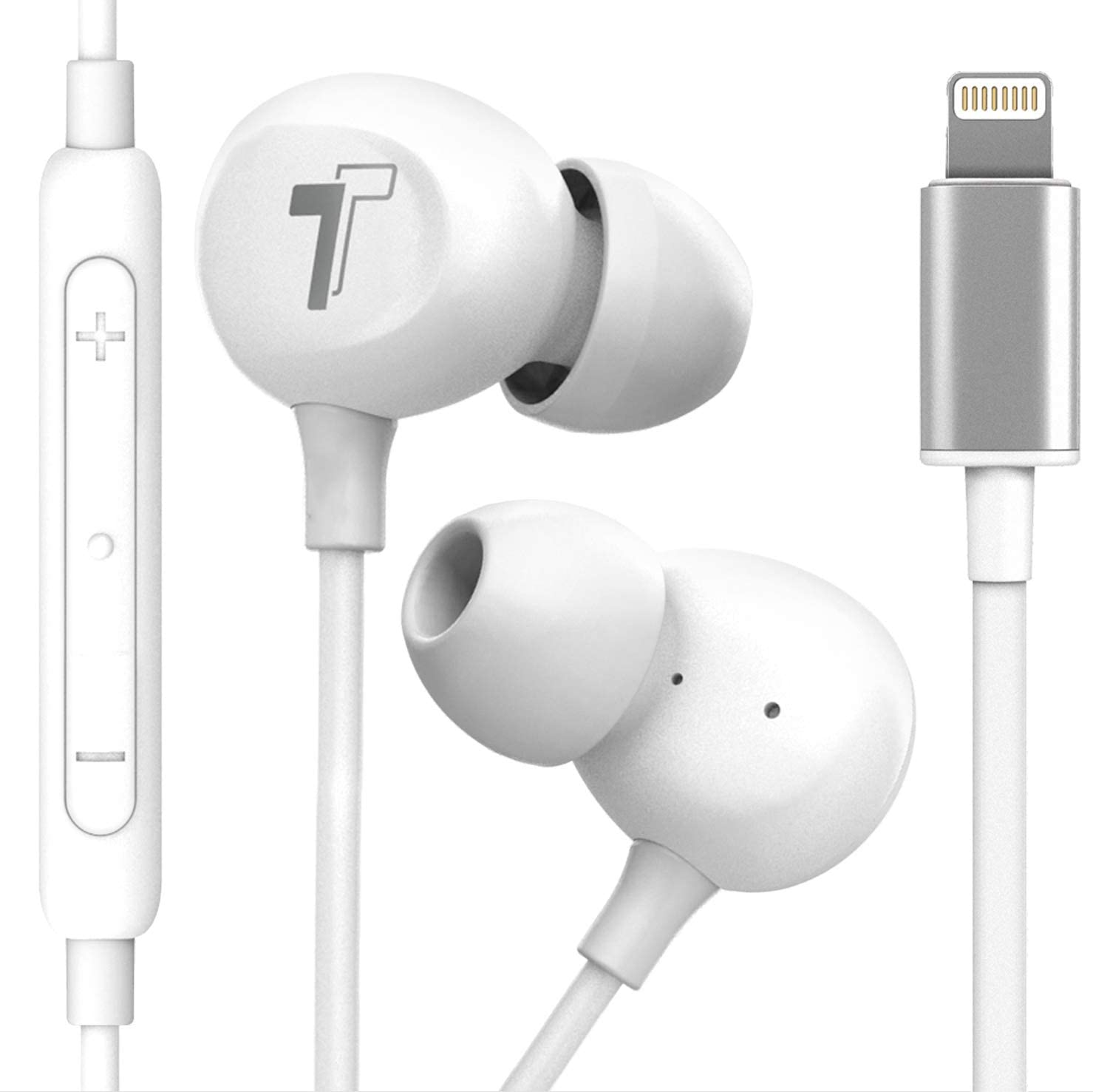 Amazon Com Thore Compatible With 2020 Iphone Se Earbuds V60 Wired In Ear Earphones Apple Mfi Certified Lightning Headphones With Mic For Iphone 7 8 Plus X Xs Max Xr 11 Pro Max Se 12 12
