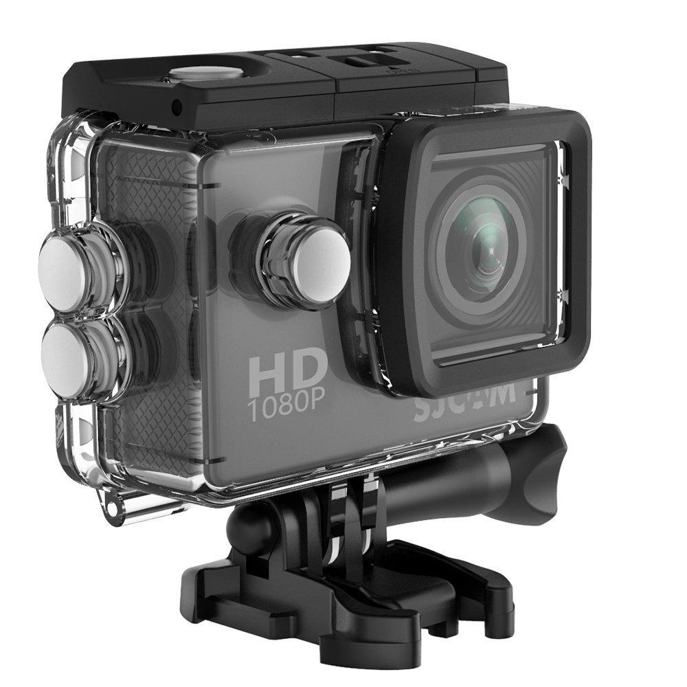1080P Action Camera, SJCAM SJ4000 12MP Waterproof Underwater Camera- Burst Shot /2.0 LCD Screen (30M Waterproof Case+Accessories Included) - Black