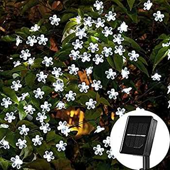 amazon com vmanoo solar outdoor christmas string lights 21ft 50