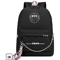 Fanmuran KPOP BTS EXO WANNAONE GOT7 TWICE BLACKPINK Mochila de carga USB bolso de escuela Mochila hombro USB de carga de viaje bolso de escuela mochila Mochila para Portátil o Colegio con Puerto de Carga USB