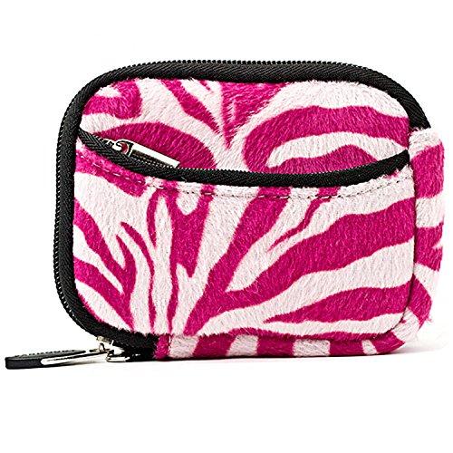 Pink & White Zebra Animal Print Camera Case w/ Access Zipper Opening for Nikon Digital Camera: COOLPIX S70 S100 S2600 S3000 S3100 S3200 S3300 S4000 S4100 S4200 S4300 S6200 S6300