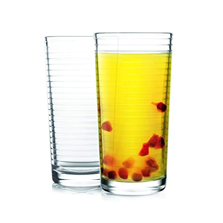 Cello Reno Glass Tumbler Set, 260 ml, Set of 2, Transparent Glassware & Drinkware at amazon