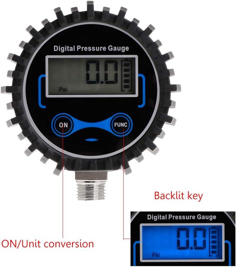 JunYe Digitaler Reifendruckmesser Luft PSI Meter Auto Motorrad Reifendruckkontrolle