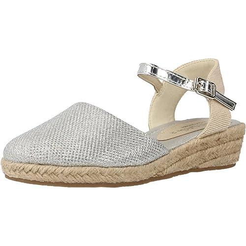 Conguitos Zapatos Niña Alpargatas Espadrilles Hv5 55559 Plata 31: Amazon.es: Zapatos y complementos
