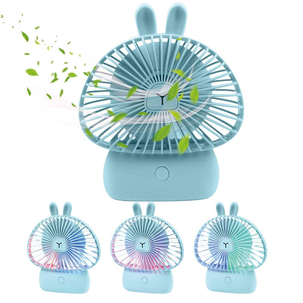 Air Cooling Fan Small Personal Fan 6000mAh Mini Handheld USB Desk Fan Portable Travel Accessory Camping Gear