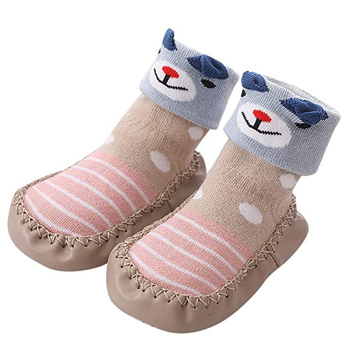 Amazon.com | Winsummer 1 Pair Cute Cartoon Unisex Toddler Baby Cotton Anti-Slip Slipper Floor Socks Shoes Winter Thick Warm Boots | Boots