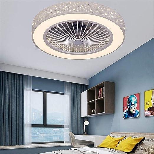 FJUAN Lámpara de Techo Ventilador de Techo con iluminación LED y ...