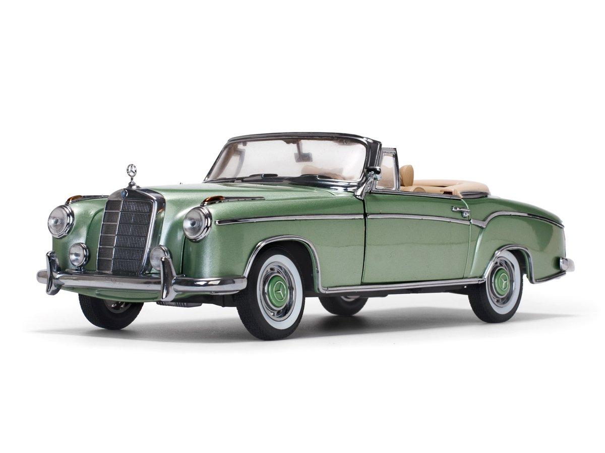 Sunstar – Mercedes-Benz – 220 SE Cabriolet – 1958 Coche de ferrocarril de Collection, 3557, Verde Metal