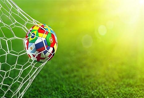 YongFoto 2,2x1,5m Vinilo Fondo de fotografía Balón de fútbol en la ...