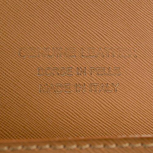 'Elegante Piel Bolso Charlize Toffee con tirante fabricado en italia.