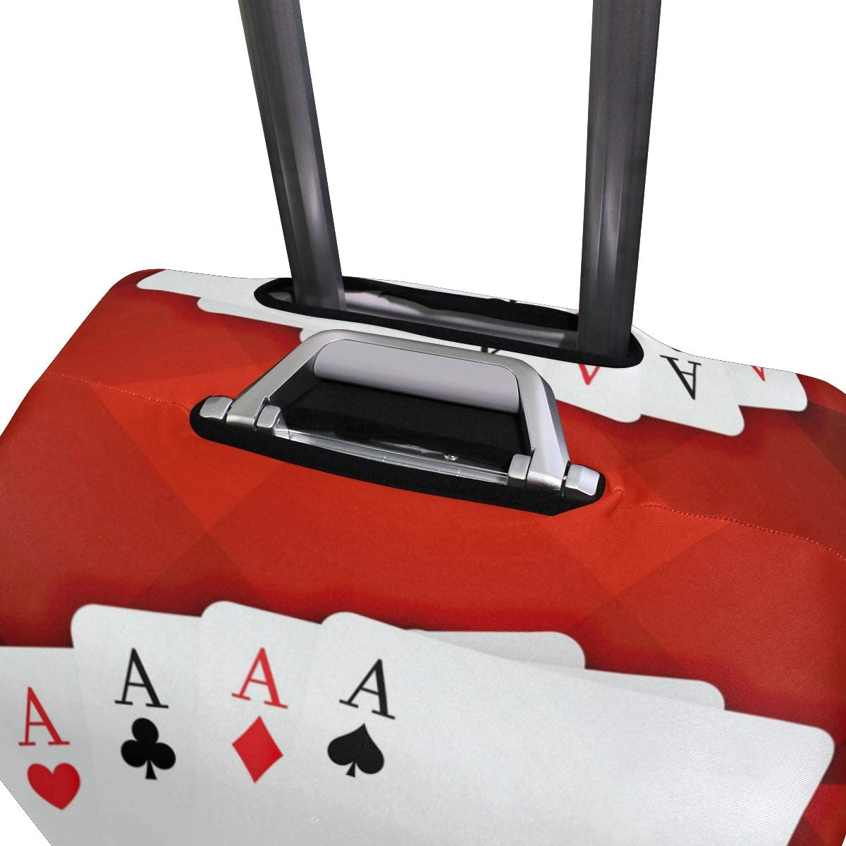 3D Playing Cards With Casino Coins And Dice Print Luggage Protector Travel Luggage Cover Trolley Case Protective Cover Fits 18-32 Inch