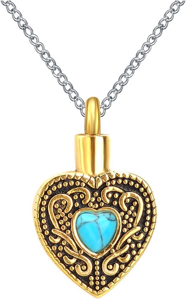 Turquoise Memorial Ash Pendant NecklaceCremation Jewelry2 Pendant Style OptionsPet MemorialGreiving JewelryMourning Necklace