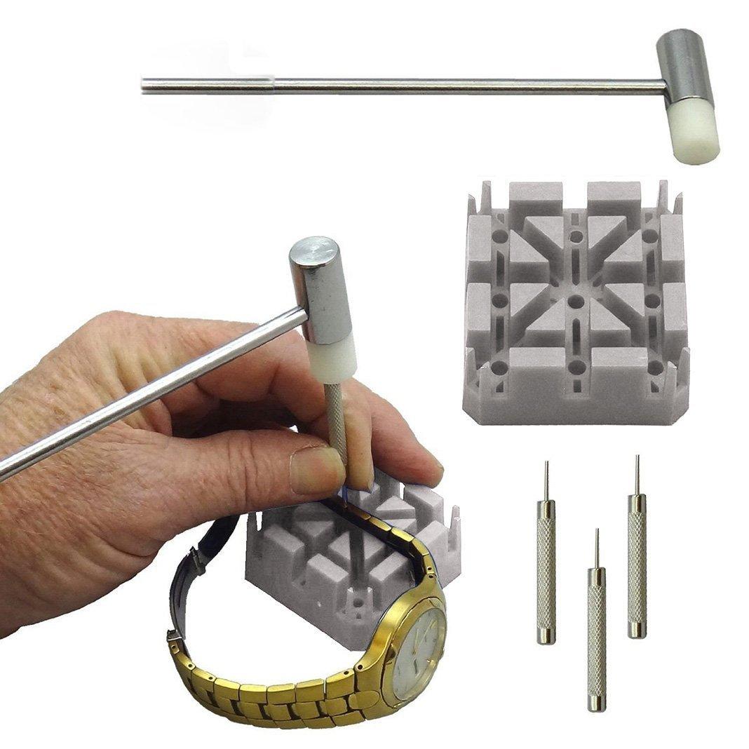 Watchリムーバーツール、Watchmaker時計修復ツールキットセット、ピンクリボン14個実用的なポータブル手首時計バンドストラップホルダーバックケースレンチOpenerブレスレットリンクピン修復リムーバーホルダーツール B07286VS2C 6 Piece Watch Repair Tool Kit 6 Piece Watch Repair Tool Kit