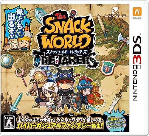 NINTENDO 3DS The Snack World Trejarers JAPANESE VERSION Region Lock Jeux zone Only For Japanese System (Delivery Snacks)