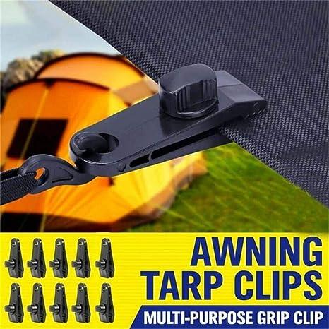 Ramble 10pcs Clip per Tende in plastica Tenda Riutilizzabile tarp telone Clip Morsetto Fibbia Strumento da Campeggio per Accessori da Campeggio allaperto